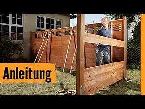 sichtschutz bauen mit zaunsystem hornbach With whirlpool garten mit balkon sichtschutz holz selber bauen