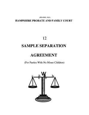 hampshire probate  family court sample separation