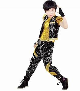 Competition Prom Gown Childrenu0026#39;s Costumes Jazz Dance Dress Hip Hop Boys Catwalk Sequins ...