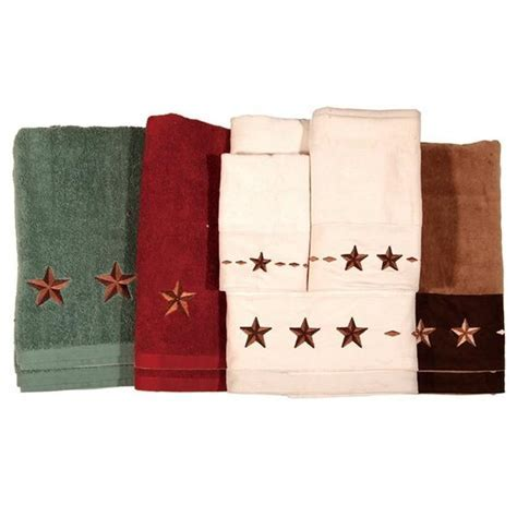 Embroidered Star Bath Towel Set   Western Style Bath Decor