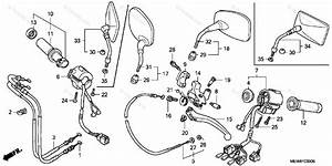 Honda Motorcycle 2004 Oem Parts Diagram For Handle Switch