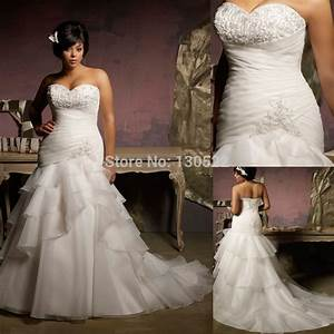 elegant strapless beaded bust tiered ruffled skirt plus With plus size wedding dress patterns