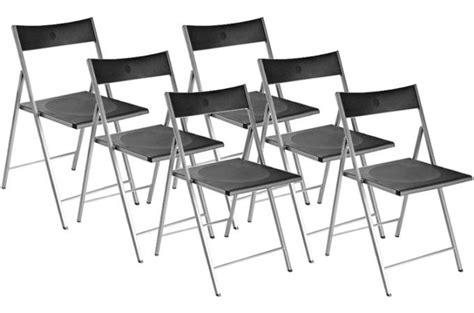 lot de 6 chaises noires lot de 6 chaises pliantes noires bilbao chaise pliante