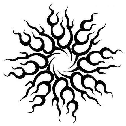 godsmack tribal sun tattoo