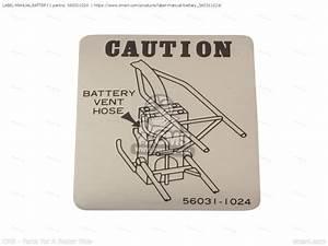 560311024  Label-manual Battery Kawasaki