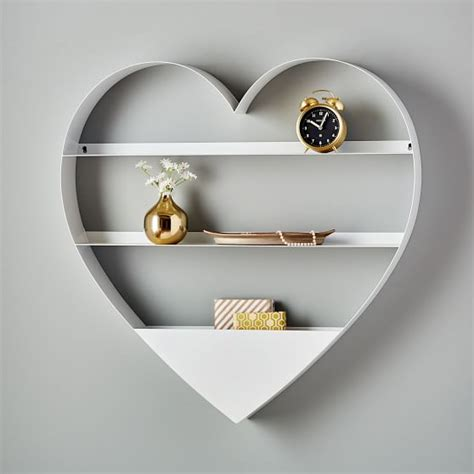 metal heart shelf pbteen