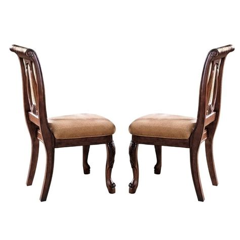steve silver company harmony harpback dining chair in rich