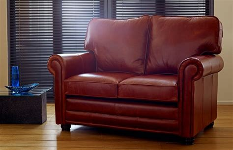 Loveseat Sofa Bed Leather by Lancaster Chesterfield Company