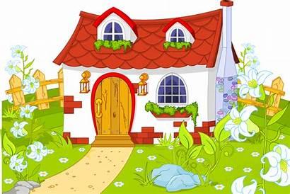 Clipart Garden Transparent Clip Farmhouse Town Cartoon