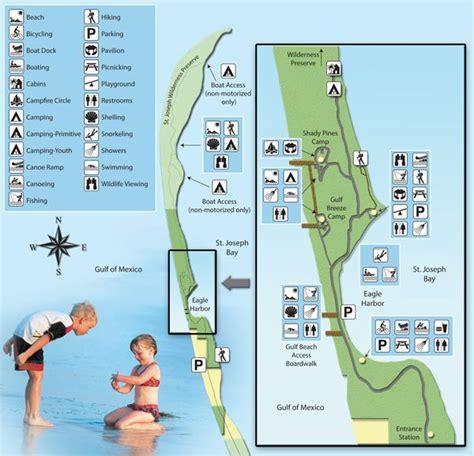 map of t h memorial st joseph peninsula state park