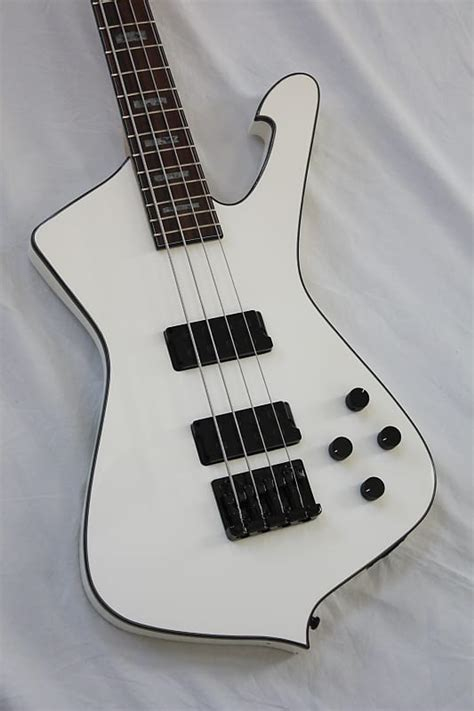2008 ibanez icb300ex iceman electric bass 4 string white reverb