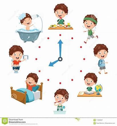 Routine Activities Vector Cartoons