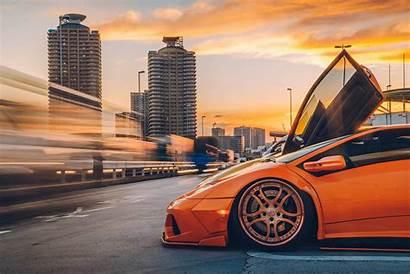 Exposure Cars Orange Lamborghini Supercars Cityscape Vehicle