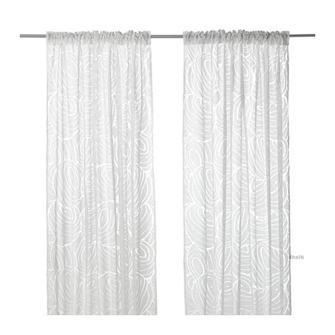 ikea nordis curtains drapes white on white nature inspired