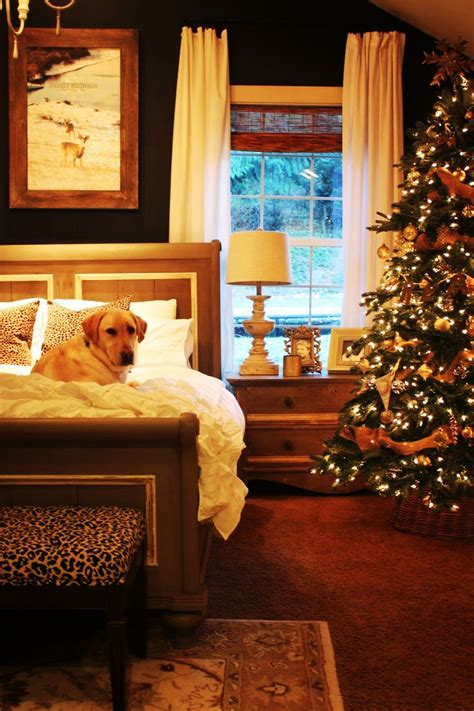 exclusive bedroom decorations  christmas interior