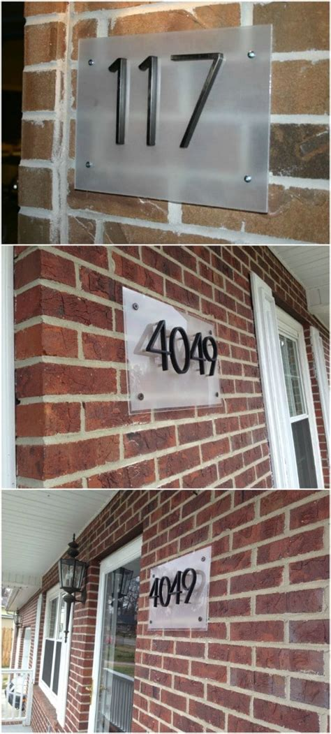 creative  unique projects  beautifully displaying house numbers diy crafts