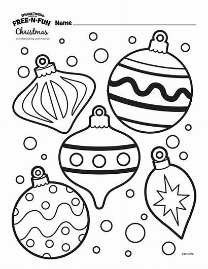 Colouring Printable Ornaments Craft Baubles Colour Template