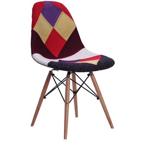 replica eames dsw patchwork dining chair