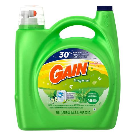 what is he detergent gain he original liquid laundry detergent 225 oz 146 loads sierra supply packaging inc