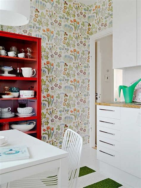 papiers peints cuisine papier peint fleuri rafraîchissons la maison pour le