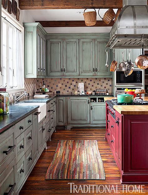 rustic painted kitchen cabinets pretty functional kitchen for a foodie traditional home 5017