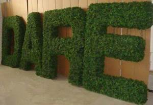 boxwood letter topiaries pictured e s featured in With artificial boxwood letters