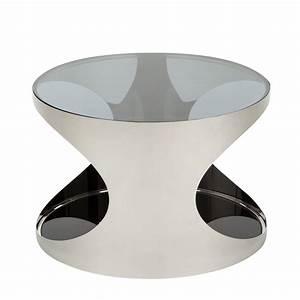 Couchtisch Schwarz Rund : couchtisch rund metall silber schwarz hochglanz beistelltisch wohnzimmertisch ebay ~ Orissabook.com Haus und Dekorationen