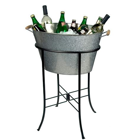 tub cooler with stand cooler stand chest wine bottle tub bar