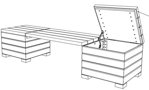 bench plans  storage outdoor woodwork city