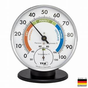 Tfa Tablestand Chrome Thermo-hygrometer-45 2033