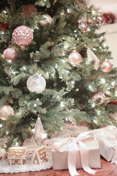 nostalgic christmas tree decorating ideas  blush pink