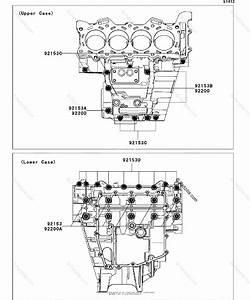 Kawasaki Motorcycle 2011 Oem Parts Diagram For Crankcase
