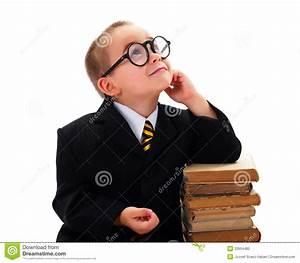 Smart Boy Looking Upwards Stock Photo - Image: 33994480