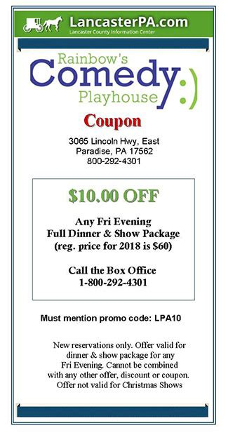 rainbow light promo code rainbow 39 s comedy playhouse coupon coupons lancasterpa com