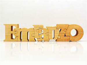name puzzles personalized wooden name puzzle custom made With wooden letter puzzle