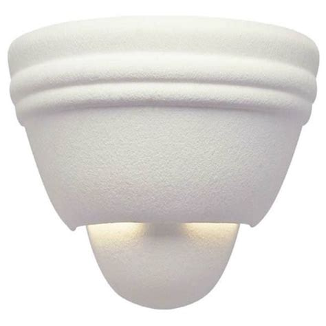 paintable wall sconce westinghouse 67478 1 light paintable textured ceramic