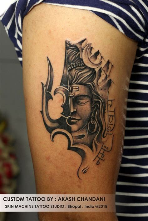 tattoo art  skin machine tattoo studio bhopal india images  pinterest
