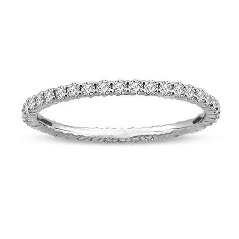 ct tw diamond eternity wedding band   white