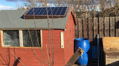 Solar Panel Kit For Shed by How To Install A 12 Volt Solar Panel On An Allotment Shed