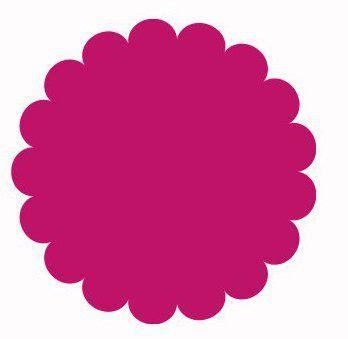 Free Scallop Circle Template Printables Pinterest