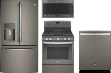 ge profile  piece appliance package  pfekmkes refrigerator pgbeejes gas range