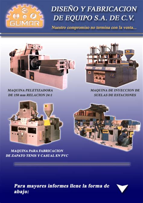 Equipos Gumar Sa De Cv Maquinas Para Fabricacion De