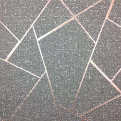 fine decor quartz charcaol  rose gold metallic apex