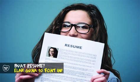 nak buat resume untuk mohon kerja pastikan jangan guna 10