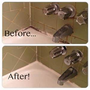 how to clean tile grout and caulk bleach baking soda With how to clean bathroom tiles with baking soda