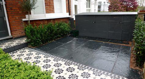 patio flooring ideas uk bespoke front garden bike store paving slate patio front