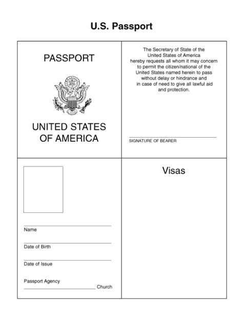 Passport Template Passport Pages Template Www Imgkid The Image Kid