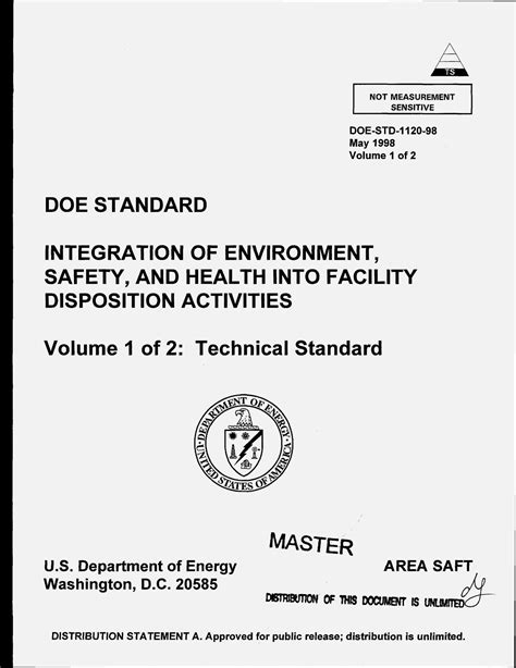 DOE standard: Integration of environment, safety, and