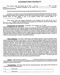 constructioncompanycontracttemplate sample With building contracts template