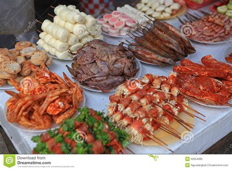 food for barbecue street food bbq on street side stock image image 50254089